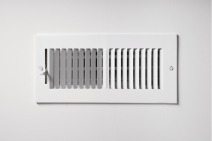 Air vent of an HVAC system in a house in Westmont, Illinois