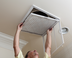 HVAC system maintenance at a house in Romeoville, Illinois