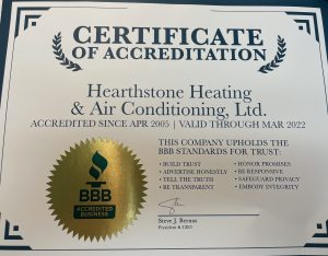 Hearthstone Heating & Air Conditioning BBB Accredited Business