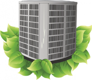 Outdoor HVAC condenser unit